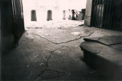 Pavimento interno della Cappella prima del restauro.