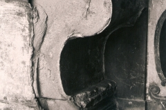 Lato destro dell'Altare prima del restauro.