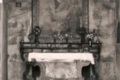 Interno della Cappella prima del restauro.