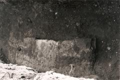 Fondamenta ritenute dell'antica Chiesa, rinvenute durante lo scavo per la realizzazione del muretto perimetrale a est.
